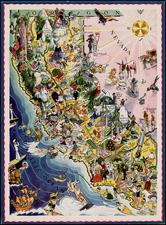 California Map By Berta and Elmer Hader