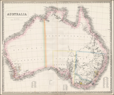 Australia Map By George Philip & Son
