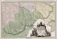 Poland, Ukraine, Hungary, Romania and Balkans Map By H. C. Schmitz / Franz Muller
