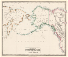 Polar Maps, Alaska and Canada Map By George Philip & Son