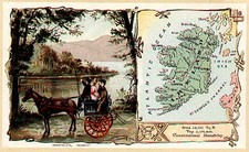 Ireland Map By Arbuckle Brothers Coffee Co.
