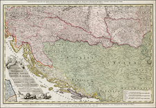 Austria, Hungary, Balkans and Italy Map By H. C. Schmitz / Franz Muller