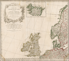 British Isles, Scandinavia and Iceland Map By Gilles Robert de Vaugondy