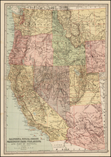 Southwest, Rocky Mountains and California Map By T. Ellwood Zell