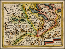 Switzerland Map By Jodocus Hondius - Michael Mercator