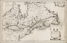 New England, Mid-Atlantic, Midwest and Canada Map By Jean Boisseau