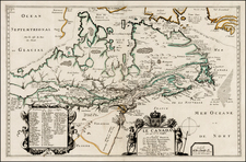 New England, Mid-Atlantic, Midwest and Canada Map By Pierre Du Val