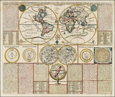 World, World and Celestial Maps Map By Henri Chatelain