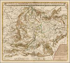 Romania Map By Nicolas de Fer / Guillaume Danet