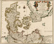 Scandinavia Map By Nicolas de Fer / Guillaume Danet