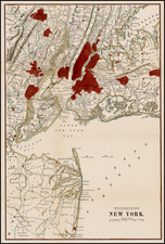 New York City and Mid-Atlantic Map By Anonymous