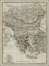 Hungary, Romania, Balkans, Turkey, Turkey & Asia Minor and Balearic Islands Map By Weimar Geographische Institut