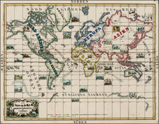 World, World, Southern Hemisphere, Polar Maps, Atlantic Ocean, North America, South America, Europe, Europe, Asia, Asia, Africa, Africa, Australia & Oceania, Oceania, Curiosities, Portraits & People, California and America Map By Anonymous