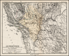 Southwest, Rocky Mountains and California Map By Augustus Herman Petermann
