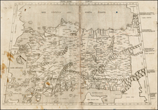 Cyprus, Turkey & Asia Minor and Balearic Islands Map By Claudius Ptolemy