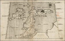 British Isles Map By Claudius Ptolemy