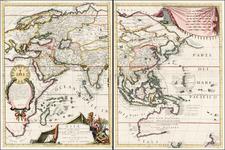 China and Korea Map By Vincenzo Maria Coronelli