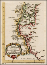 Scandinavia Map By Jacques Nicolas Bellin