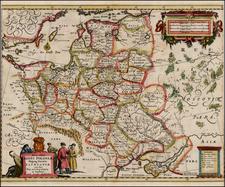Poland, Ukraine and Baltic Countries Map By Hugo Allard