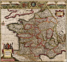 France Map By Johannes Cloppenburg