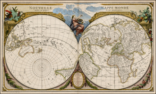 World, World, Northern Hemisphere and Southern Hemisphere Map By Jean Lattré