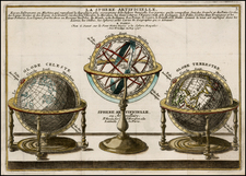 World, World, Curiosities and Celestial Maps Map By Nicolas de Fer / Guillaume Danet