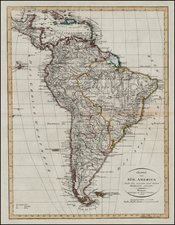 South America Map By Weimar Geographische Institut