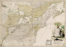 United States, Mid-Atlantic, South, Southeast and Midwest Map By Johann Christoph Rhode