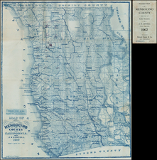 California Map By Edward Denny & Co. / J.N. Lentell