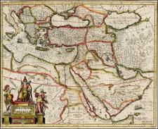 Turkey, Mediterranean, Middle East, Turkey & Asia Minor and Balearic Islands Map By Jan Jansson