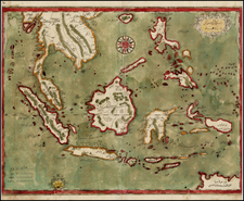 Southeast Asia and Other Islands Map By Katip Celebi