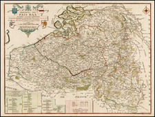 Netherlands Map By Nicolas de Fer / Jacques-Francois Benard