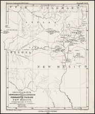 Southwest and Rocky Mountains Map By Augustus Herman Petermann
