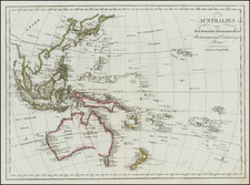 Southeast Asia, Philippines, Other Islands, Australia, Oceania, New Zealand, Hawaii and Other Pacific Islands Map By Tranquillo Mollo