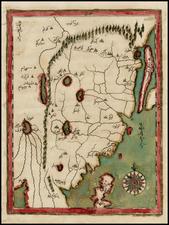 China and Korea Map By Katip Celebi