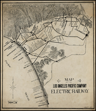 California Map By Pacific Electric Railway
