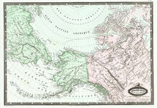 World, Polar Maps, Alaska and Canada Map By F.A. Garnier