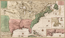 United States, Florida, South, Southeast, Texas, Midwest, Plains, Southwest, Rocky Mountains and North America Map By Gerard Van Keulen