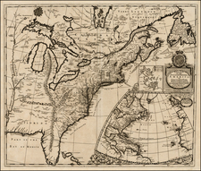 United States, New England, Mid-Atlantic and Southeast Map By Robert Morden  &  Christopher Browne