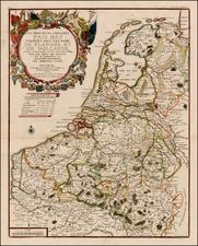 Netherlands Map By Nicolas de Fer / Guillaume Danet