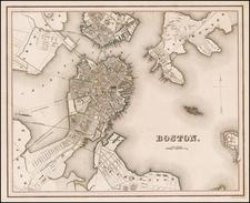 New England Map By Thomas Gamaliel Bradford