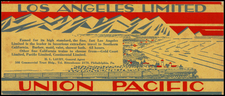 California Map By Union Pacific Railroad Company