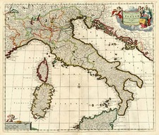 Europe and Italy Map By Theodorus I Danckerts