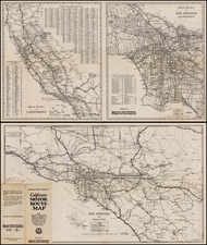 California Map By Security-First National Bank of Los Angeles