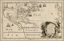 United States, Midwest and North America Map By Louis de Hennepin