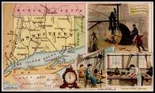 New England and Connecticut Map By Arbuckle Brothers Coffee Co.