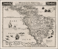 South America Map By Cornelis de Jode