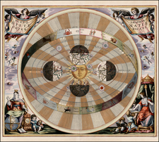 World, World, Celestial Maps and Curiosities Map By Andreas Cellarius