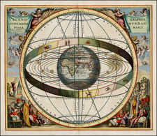 World, World, Celestial Maps and Curiosities Map By Andreas Cellarius / Gerard & Leonard Valk