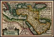 Turkey, Balearic Islands, Central Asia & Caucasus, Middle East, Turkey & Asia Minor, Egypt and North Africa Map By John Speed / Pieter van den Keere